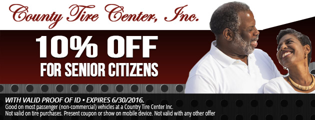 10% Off Senior Citizens Discount