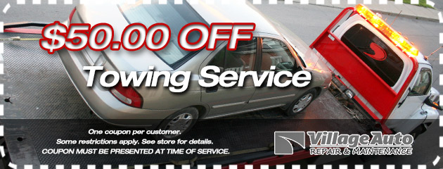 $50 off Towing Service