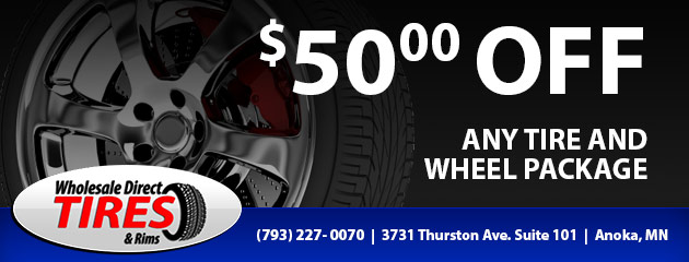 $50 off any tire and wheel package