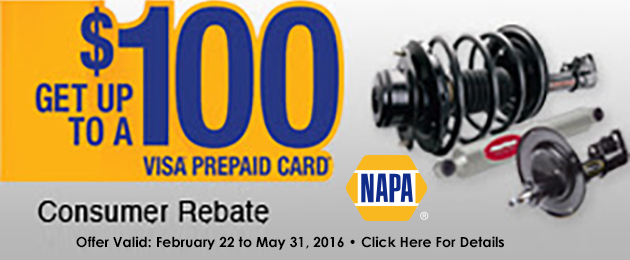 "NAPA ""Get Up To $100"" Promotion"