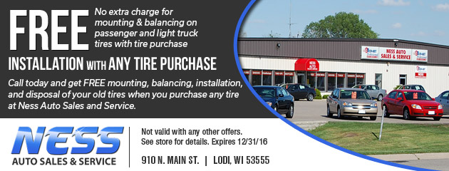 Free Installation with any tire purchase