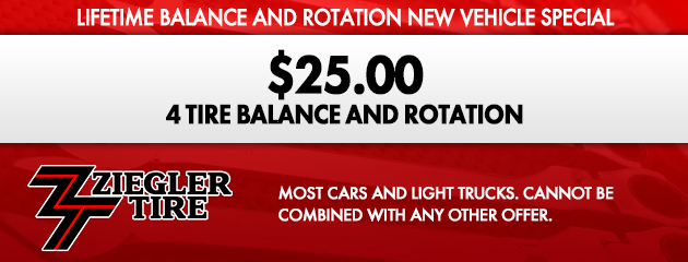 Lifetime Balance and Rotation New Vehicle Special