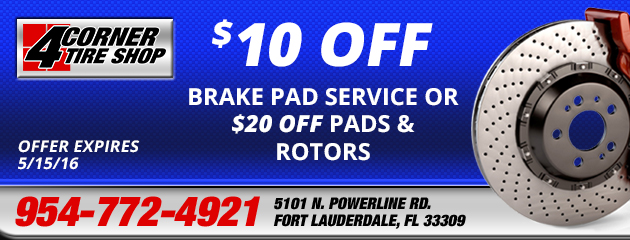 $10 Off Brake Pad Service or $20 Off Pads and Rotors Coupon