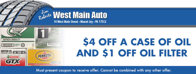 $4 off a case of oil AND $1 off oil filter