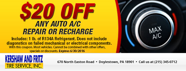 $20 Off Any Auto A/C Repair