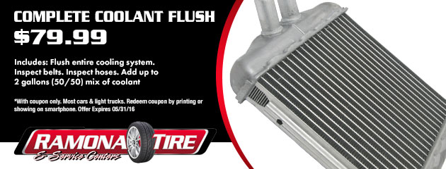 $79.99 Coolant Flush Coupon