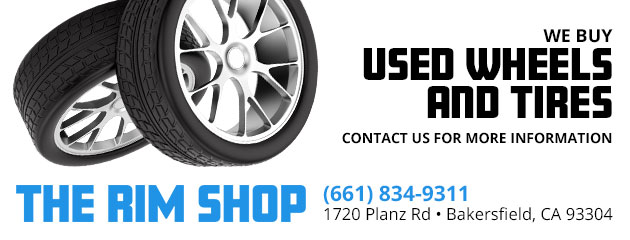 We buy used wheels and tires
