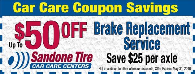 $50 OFF Brake Replacement