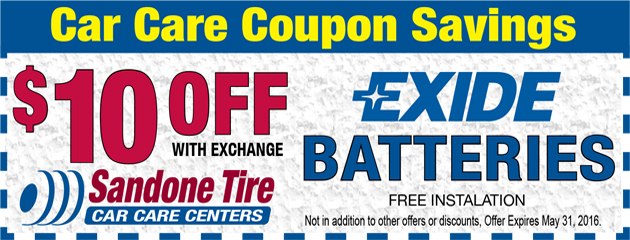 $10 Off Exide Batteries