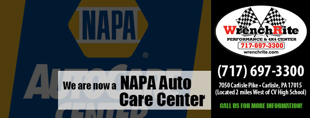 We are now a NAPA Auto Care Center
