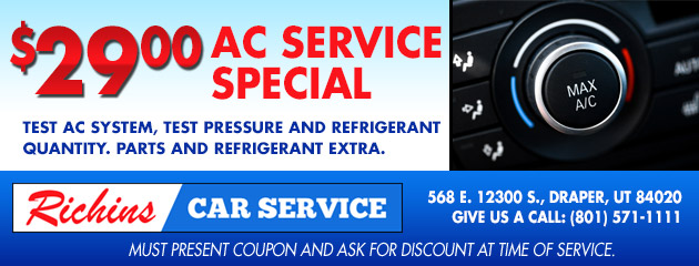 $29 AC Service Special