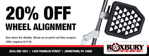 20% Off Wheel Alignment Coupon
