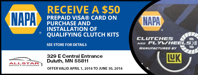 Save $50 On Napa Clutch Kits