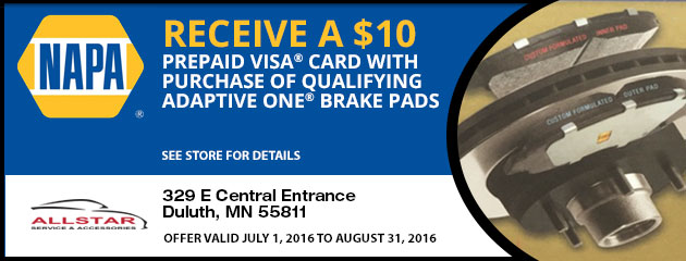 Save $10 On Napa Adaptive One Ceramic Brake Pads