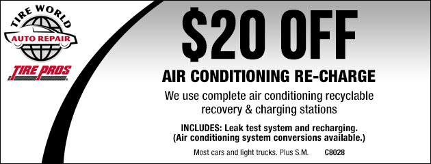 $20.00 Off Air Conditioning Re-Charge