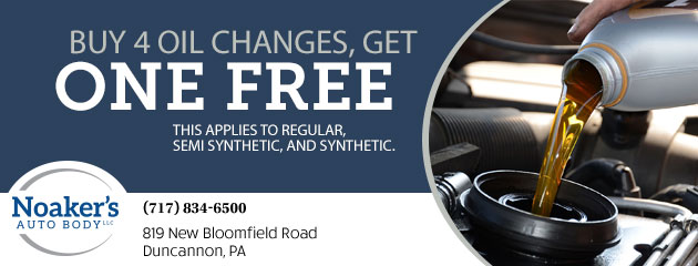 Buy 4 oil changes, get one free