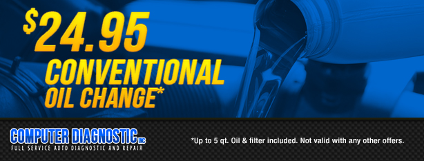 $24.95 Conventional Oil Change