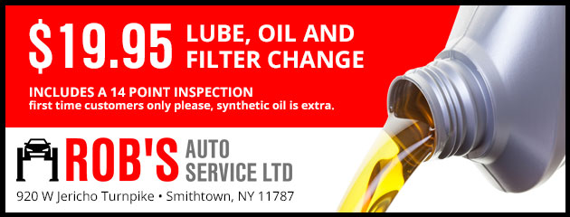 $19.95 Lube, oil and filter change