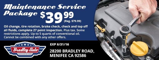 Maintenance service package $39.99
