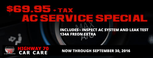 AC SERVICE SPECIAL  $69.95 + TAX