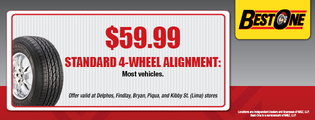 $59.99 Wheel Alignment Coupon