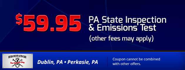 $59.95 PA State Inspection & Emissions Test