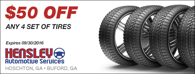 $50 Off Any Set of 4 Tires Coupon
