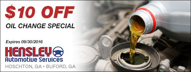 $10 Off Oil Change Special