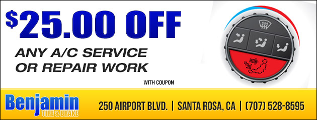 $25.00 off any A/C service or repair work