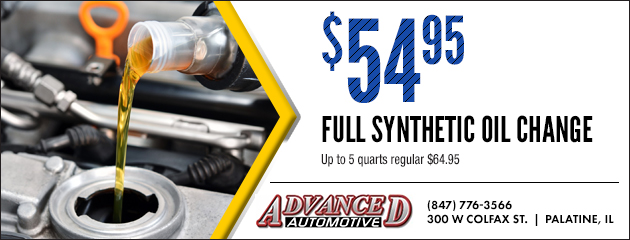 $54.95 Full synthetic oil change