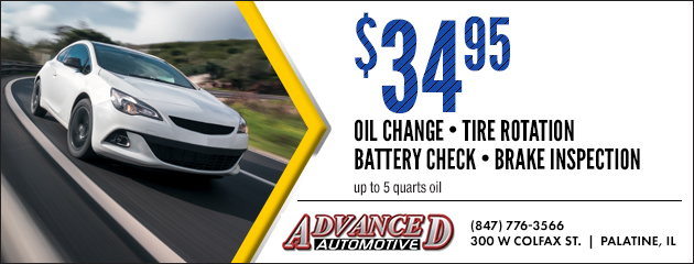 Oil change tire rotation battery check brake inspection