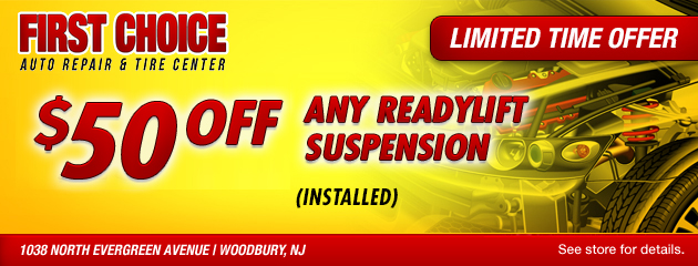 $50 Off any ReadyLift Suspension (Installed)