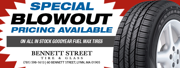 Special BLOWOUT pricing Available on all in stock Goodyear Fuel Max tires