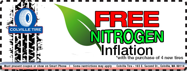 FREE Nitrogen Inflation with the purchase of 4 new tires!