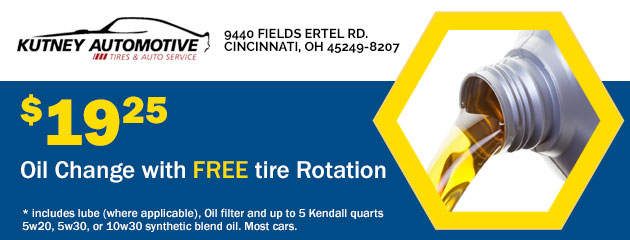 $19.25 Oil Change with FREE tire Rotation