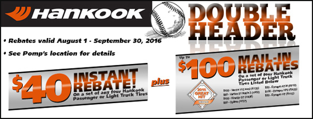 Hankook Double Header Rebate