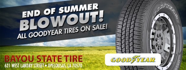 End of summer blowout! All Goodyear Tires on sale!