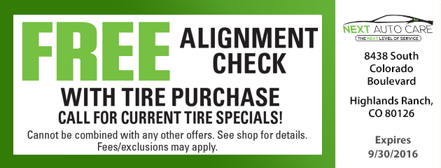FREE Alignment Check Neece
