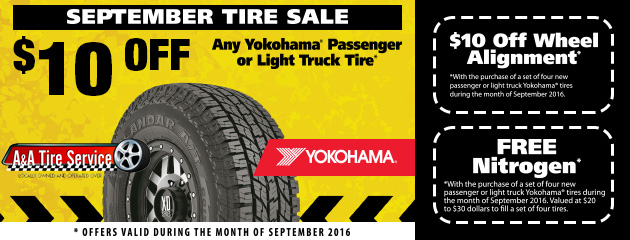 September Tire Sale