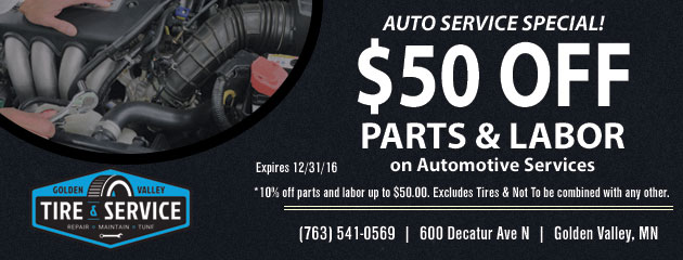 Get up to $50.00 Off Parts and Labor on Automotive Services