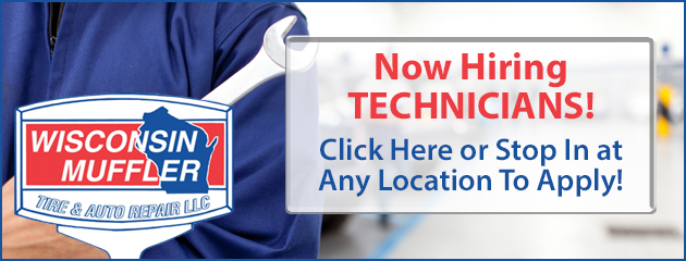 Now Hiring Technicians! Click Here or Stop In at Any Location To Apply!