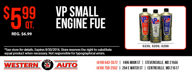 VP Small Engine Fuel  $5.99