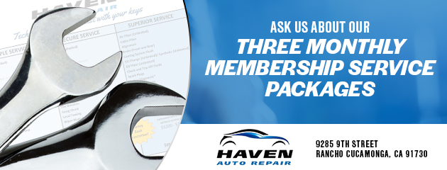 Ask us about our three monthly membership service packages