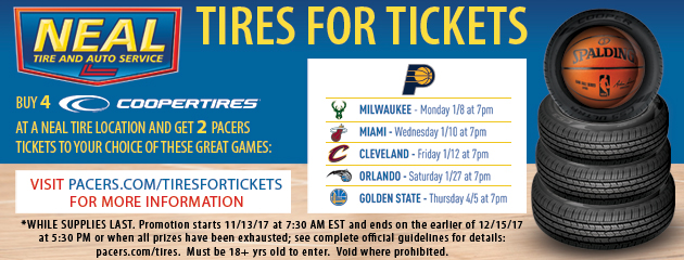 Tires for Pacers Tickets