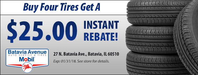 Buy Four Tires Get a $25.00 Instant Rebate!