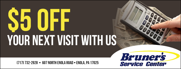 $5 off your next visit with us