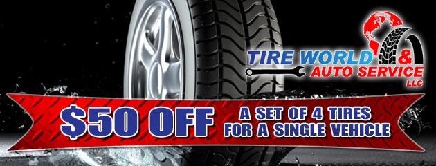 Purchase of any 4 tires for a single vehicle