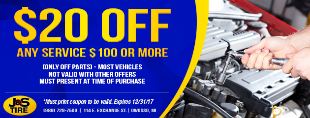$20 Off Any Service $100 or More