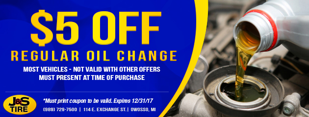 $5 Off A Regular Oil Change