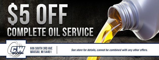 $5 off complete oil service